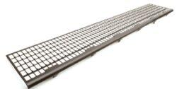 zachytávač listí okapový PVC  171 x 1000 mm , šedý