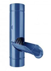 Zachytávač vody pozinkovaný modrý 100 mm se sítkem