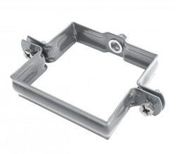 Objímka pozinkovaná hranatá prachově šedá  80 mm, bez hrotu, metrický závit M10